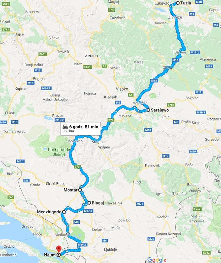 Objazdówka mapa