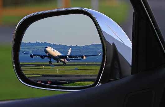flight traffic car airport