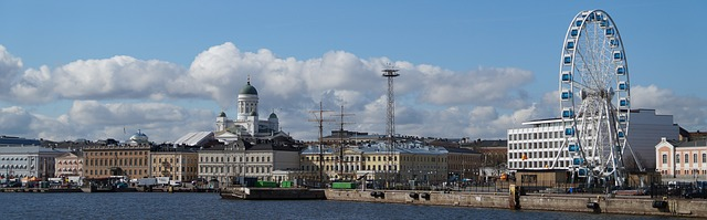 Początek, panorama Helsinki